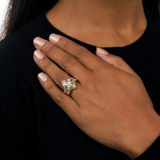 Estate Baguette Diamond Ribbon Ring