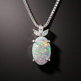 Estate Black Opal and Diamond Necklace - 3