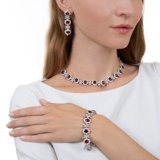 Estate Burma Ruby and Diamond Suite - GIA