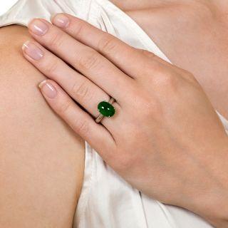 Estate Burmese Jade Solitaire Ring