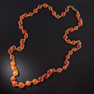 Estate Carnelian Link Necklace  - 1