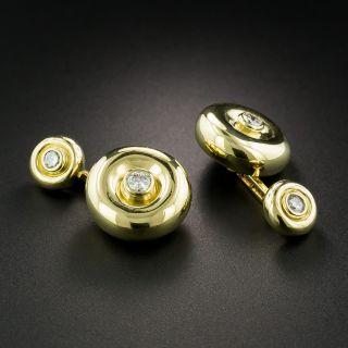 Estate Cartier Diamond Cuff Links - 2