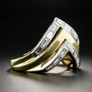 Estate Chevron Diamond Ring