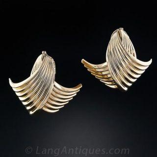 Estate Clip  Earrings