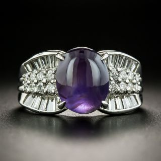 Estate Color Change Star Sapphire and  Diamond Ring