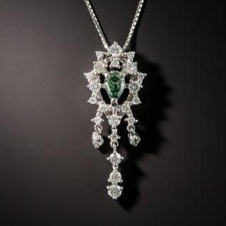 Estate Color Enhanced Diamond Necklace