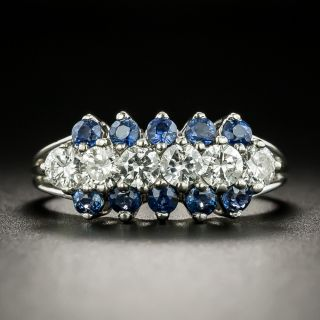 Estate Diamond and Sapphire Band Ring - 1