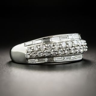 Estate Diamond Baguette and Round Brilliant Cut Band Ring
