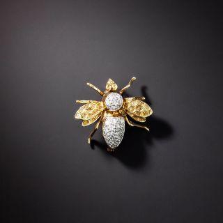 Estate Diamond Bee Brooch - 1