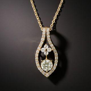 Estate Diamond Drop Necklace - 1