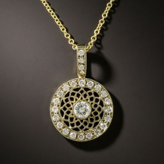 Estate Diamond Drop Necklace - 2
