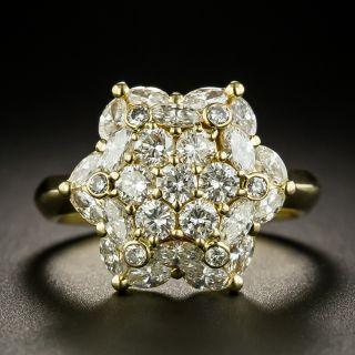 Estate Diamond Floral Cluster Ring - 2