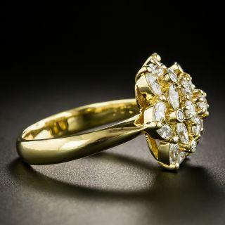 Estate Diamond Floral Cluster Ring