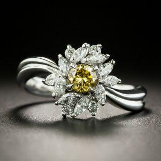 Estate Diamond Flower Ring - 2