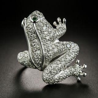 Estate Diamond Frog Ring - 2