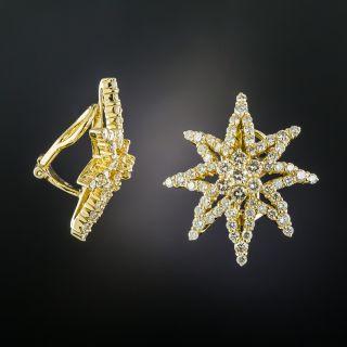 Estate Diamond Star Earrings - 1