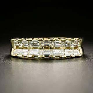 Estate Double-Row Baguette Diamond Band - 2