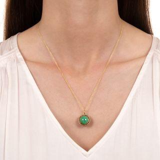 Estate Double-Sided Jade Pendant