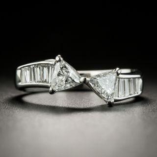 Estate Double Trillion-Cut Diamond Ring - 2