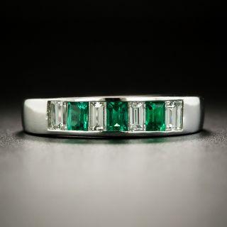 Estate Emerald Diamond Band - 2
