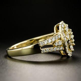 Estate Fancy Mixed-Cut Diamond Ring