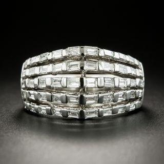 Estate Five-Row Baguette Diamond Band Ring - 2