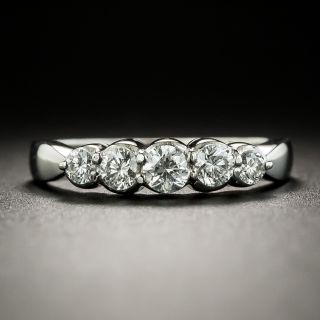 Estate Five-Stone Diamond Wedding Band - 3