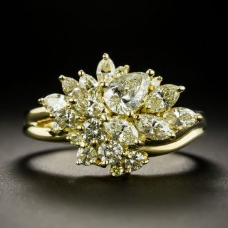Free-Form Diamond Cluster Ring  - 2
