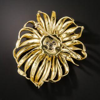 Estate French Flower Diamond Brooch