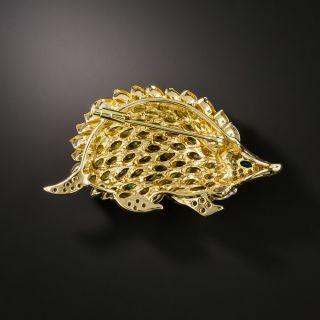 Estate Gem-Set Hedgehog Brooch