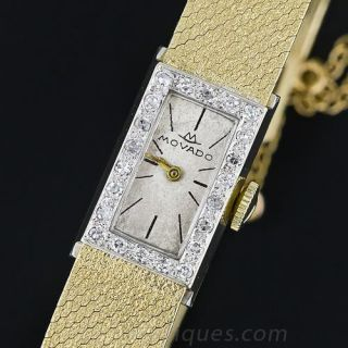 Estate Gold and  Diamond Movado Lady's Watch