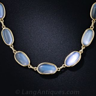 Estate Gold and Moonstone Necklace