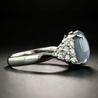 Estate Gray-Blue Star Sapphire and Diamond Ring