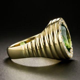 Estate Green Tourmaline Signet Style Ring