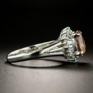 Estate Imperial Topaz and Diamond Ballerina Ring
