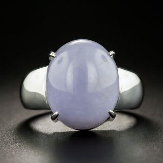 Estate Lavender Jade Solitaire Ring  - 1