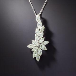 Estate Marquise-Cut Diamond Pendant Necklace  - 1