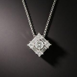 Estate Mixed-Cut Diamond Pendant - 2