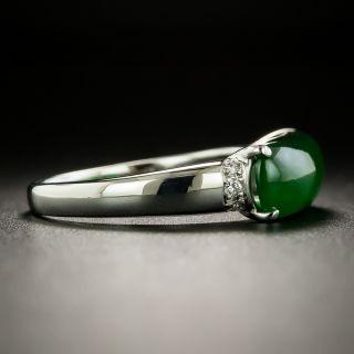 Estate Natural Burmese Saddle Jade Ring