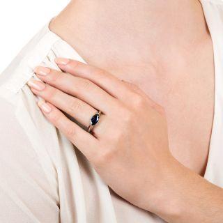 Estate No-Heat 1.86 Carat Marquise Sapphire Ring
