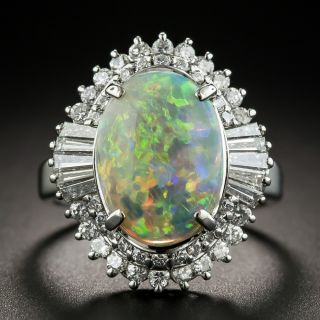 Estate Opal and Diamond Cocktail Ring - 1