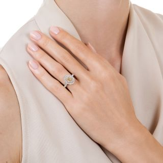 Estate Oval Diamond Double Halo Ring