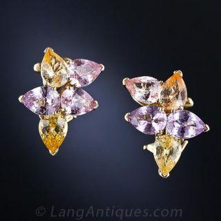 Estate Pastel Sapphire Earrings - 1