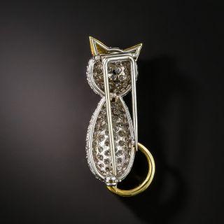 Estate Pavé Diamond Cat Pin
