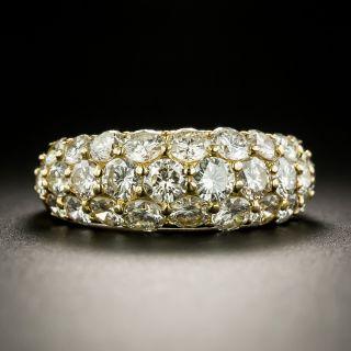 Estate Pave Diamond Domed Band  - 2