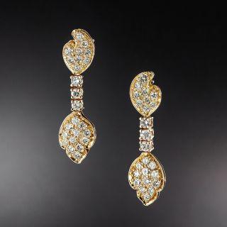 Estate Pavé Diamond Drop Earrings - 1