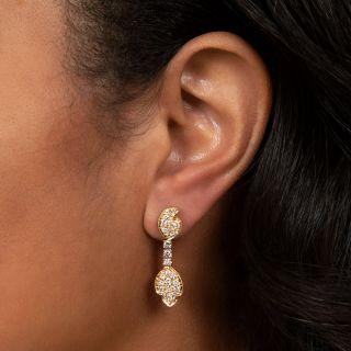 Estate Pavé Diamond Drop Earrings