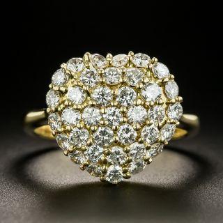 Estate Pavé Diamond Heart Ring - 3