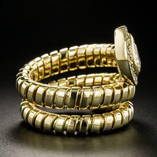 Estate Pear-Shaped Diamond Snake Ring