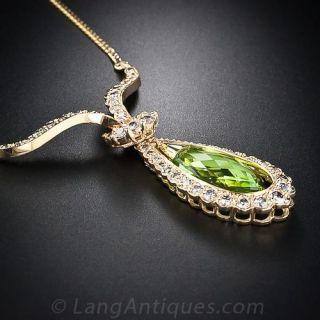 Estate Peridot and Diamond Necklace